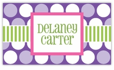 Polka Dot Fun Purple Calling Card