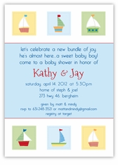 Pottery Barn Kids inspired Baby Boats Shower Invitation
