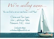 Sail Boat Scene Invitation