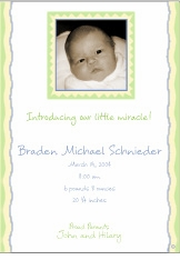 Scrapbook Style Boy Photo Birth Announcement