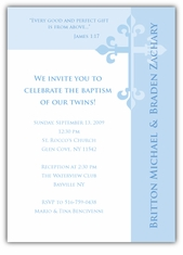 Serendipity Boy Twins Baptism Invitation