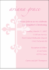 Serendipity Cross Girl Baptism Invitation