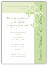 Serendipity Girl Boy Twins Baptism Invitation