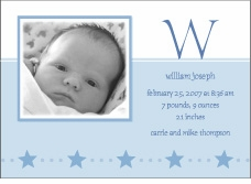 Serendipity Sweet Boy Birth Announcement