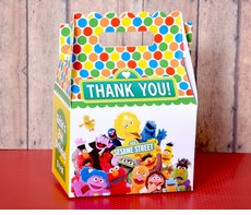 Sesame Street Party<br>Personalized Gable Box Party Favor - Yellow