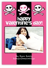 Silly Skulls Grunge Valentine�s Day Photo Card