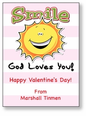 Smile, God Loves You Personalized Valentine