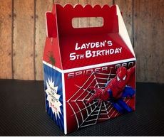 Spiderman Personalized Gable Box Party Favor