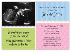 Sweet Sonogram Photo Gender Neutral Baby Shower Invitation