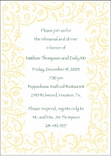 Swirling Vines Invitation