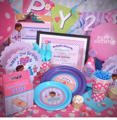 The Ultimate Personalized Party Pack for 12<br>Doc McStuffins Party Pack