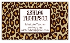 The Wild Side Animal Print Business Cards