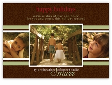 Triple Elegance Photo Holiday Card