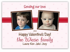 Twice as Nice Double Photo Valentine�s Day Card