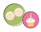 Twins Birthday Invitations for First Birthdays and Any Age Twin BIrthdays Girl and Boy Combo Parties