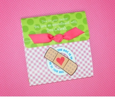 Ultimate Doc McStuffins Tri-Fold Photo Birthday Invitation<br>Pink Gingham