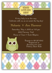 Whoo Loves You Baby Shower Invitation, matches theme from Party City