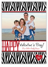 Zebra Print Photo Valentine�s Day Card