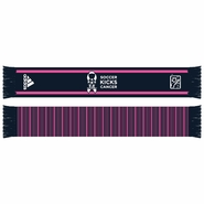 adidas MLS 2013 Soccer Kicks Cancer Scarf - Pink/Navy