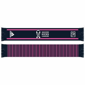 adidas MLS 2013 Soccer Kicks Cancer Scarf - Pink/Navy - Click to enlarge