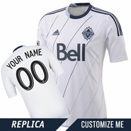 Vancouver Whitecaps FC adidas Replica Custom Player Short Sleeve Primary Jersey - White/Deep Sea<br><b><i>Choose a player or Customize your jersey!</i></b>