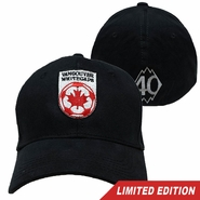 Vancouver Whitecaps FC 40th Anniversary Brushed Flex Fit Cap - Black<br><b><i>Will ship by May 5th</i></b>