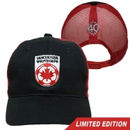 Vancouver Whitecaps FC 40th Anniversary Mesh Trucker Cap - Black/Red<br><b><i>Will ship by May 5th</i></b>