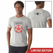 Vancouver Whitecaps FC 40th Anniversary Primary Crest Tee - Grey<br><b><i>Will ship by May 5th</i></b>