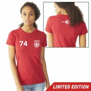 Vancouver Whitecaps FC 40th Anniversary Women's '74 Vintage Tee - Red<br><b><i>Will ship by May 5th</i></b>