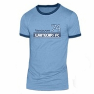 Vancouver Whitecaps FC '74 Vintage Tri-Blend Ringer Tee - Light Blue