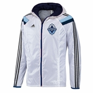 Vancouver Whitecaps FC adidas 2014 Authentic Anthem Jacket - White/Grey