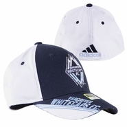 Vancouver Whitecaps FC adidas 2014 Structured Flex Cap - Navy/White