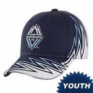 Vancouver Whitecaps FC adidas 2014 Youth Slouch Adjustable Hat - Navy/White