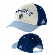 Vancouver Whitecaps FC adidas 2015 Topstitch Slouch Adjustable Hat - Navy