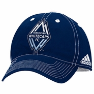 Vancouver Whitecaps FC adidas All Blue Structured Adjustable Hat - Navy