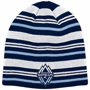 Vancouver Whitecaps FC adidas All Different Stripe Beanie - Navy