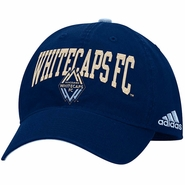Vancouver Whitecaps FC adidas Arch Adjustable Slouch Cap - Navy