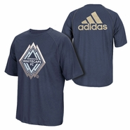 Vancouver Whitecaps FC adidas Climalite Light Up Logo Tee - Navy