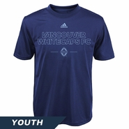 Vancouver Whitecaps FC adidas Climalite Youth Authentic Tee - Blue