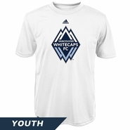Vancouver Whitecaps FC adidas Climalite Youth Primary Tee - White