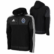 Vancouver Whitecaps FC adidas Climaproof&reg 2015 Authentic Coaches Sideline Jacket - Charcoal