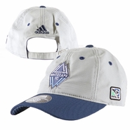 Vancouver Whitecaps FC adidas Coaches Adjustable Slouch Cap - Grey/Navy