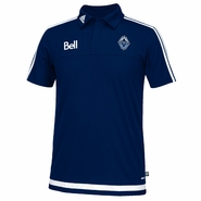 Vancouver Whitecaps FC adidas Coaches Polo - Navy