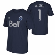 Vancouver Whitecaps FC adidas David Ousted #1 Name and Number Tee - Navy
