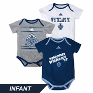 Vancouver Whitecaps FC adidas Infant 3 Goals Creeper Set
