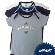 Vancouver Whitecaps FC adidas Infant 3-Piece Creeper Set