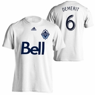 Vancouver Whitecaps FC adidas Jay DeMerit #6 Name & Number Tee - White