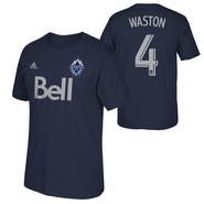 Vancouver Whitecaps FC adidas Kendall Waston #4 Name and Number Tee - Navy