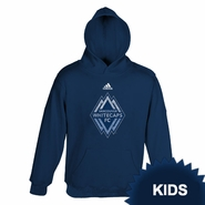 Vancouver Whitecaps FC adidas Kids Distressed Hoody - Navy