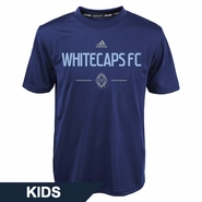Vancouver Whitecaps FC adidas Kids MLS Authentic Climalite Tee - Navy